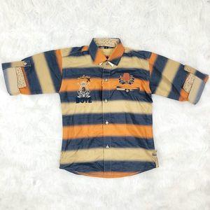 NWT Rare Boys Republic Striped Button-Down Shirt